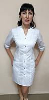 Женский медицинский халат Оксана 42 размер длинный рукав