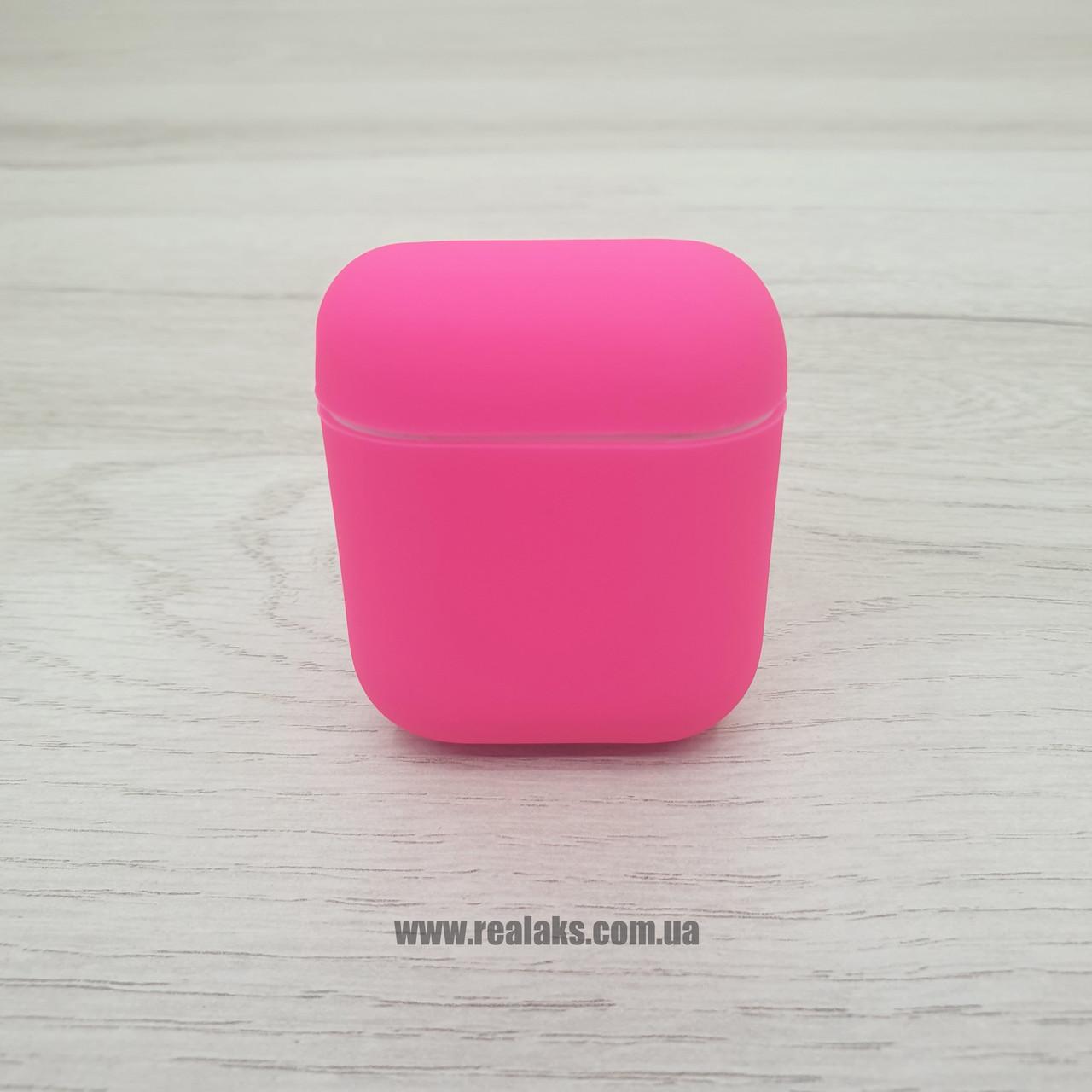 Чохол для навушників AirPods Silicone Case 1&2 (Hot rose)