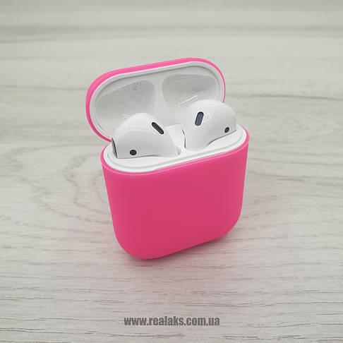 Чохол для навушників AirPods Silicone Case 1&2 (Hot rose), фото 2