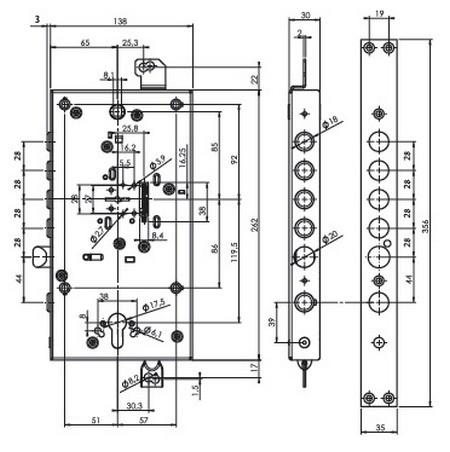 Схема замка Mul-t-lock Matrix DFM3 0328M фото