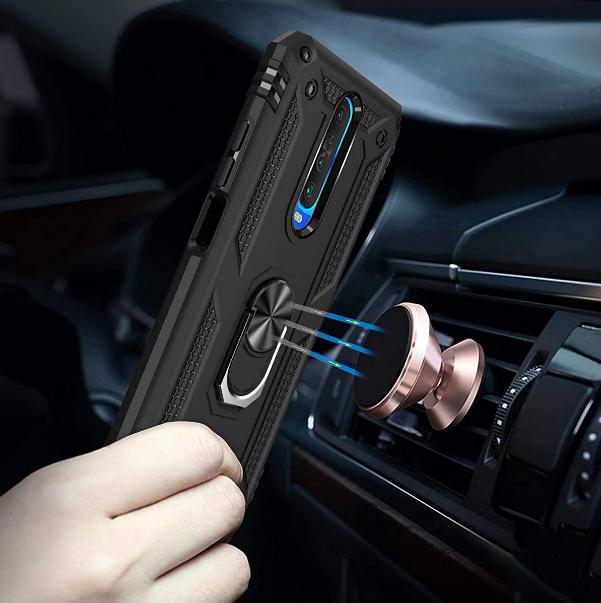 Ударопрочный чехол Serge Ring магнитный держатель для Xiaomi Redmi K30