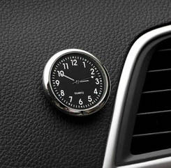 Автомобильные часы Elegant Кварцевые часы в авто Черный циферблат на выбор корпус МЕТАЛЛИЧЕСКИЙ