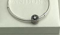 Бусина шарм серебро подвеска для браслета Pandora Пандора серебряная
