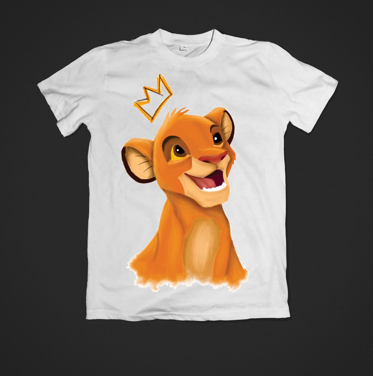 Футболка YOUstyle Lion King 0475 XL White
