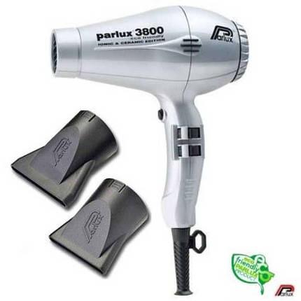 Фен для волос Parlux 3800 EcoFriedly Ceramic & Ionic Gray, фото 2