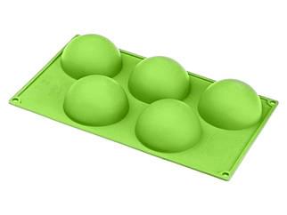 Силиконовая форма для выпечки Полусфера на 5 ячеек
