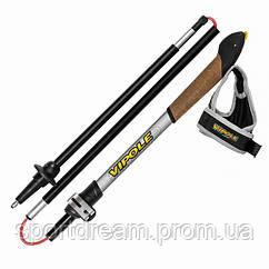 Палки для скандинавской ходьбы Vipole Traveller Pop Up Top-Click Grey DLX S1864