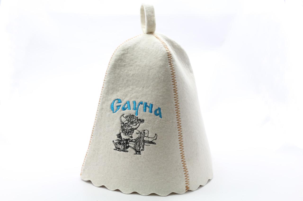 Шапка для сауны с вышивкой 'Сауна ', Saunapro