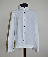 Школьная рубашка для девочек 9-12 лет классическая белого цвета, фото 1