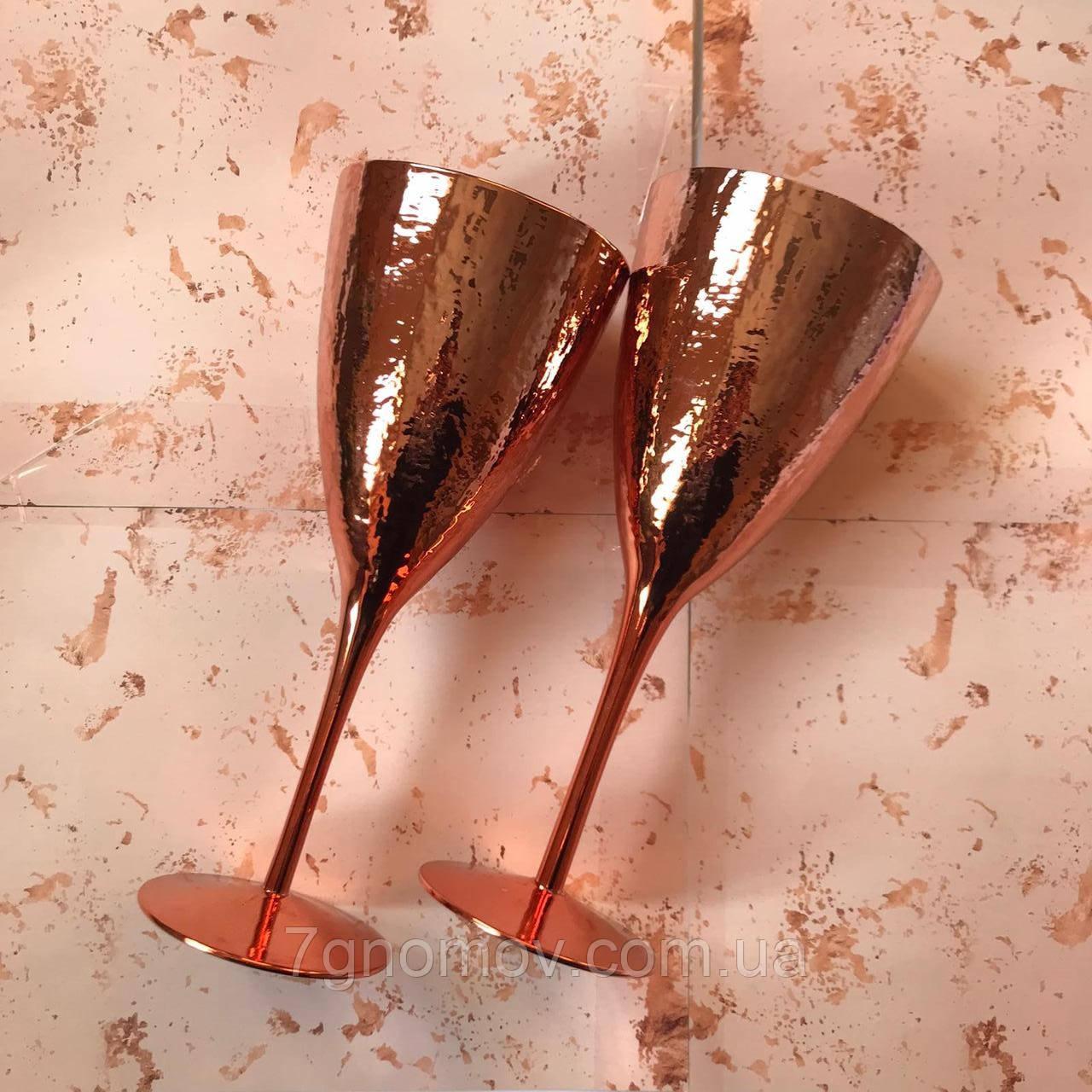 Набор 6 бокалов для  вина Роуз золотой 375 мл
