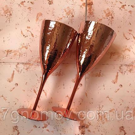 Набор 6 бокалов для  вина Роуз золотой 375 мл, фото 2