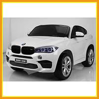 Детский двухместный ездовой Электромобиль BMW Х6 JJ2168 городской Белый