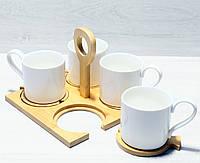 Чайный набор Naturel 938-013  чашки 4шт*250мл, фото 1