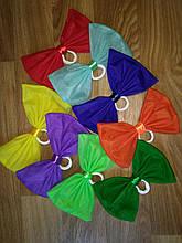 Бант большой фатиновый на резинке разные цвета