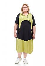 Стильное женское платье Имидж 2 цвета (62-72)