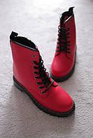 Женские ботинки красные Мартинсы осень 37-40