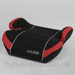 Бустер детский автомобильный JOY 43769 группа 2/3, от 3 до 12 лет. Черно-красный PS