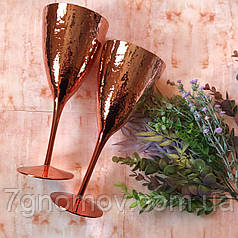 Набор 6 бокалов для вина Bailey Rose 300 мл золотой