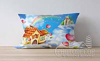 """Детская подушка с фото """"Домик в облаках"""""""