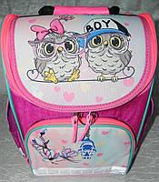 Рюкзак школьный каркасный с фонариками Bagland Успех 12л (5513 143 малина 515), фото 1