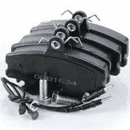 Колодки тормозные передние дисковые DACIA LOGAN 04-