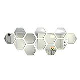Акриловое зеркало «Сота» 184×160×92×1 мм 1 шт серебро, фото 4