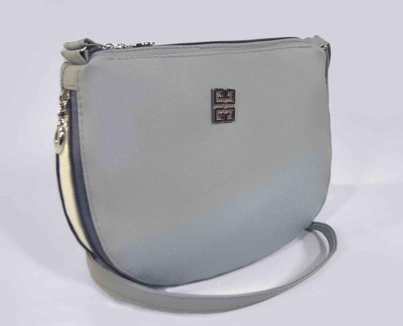 Наплечная женская серая сумка код 9-26