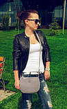 Наплечная женская серая сумка код 9-26, фото 4