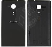 Задняя панель корпуса для Sony Xperia SP C5302 M35h, оригинал (черный)