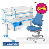 Комплект парта для подростка Sognare Blue + детское ортопедическое кресло Bravo Blue FunDesk