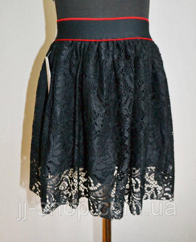 Детская юбка черного цвета на девочку