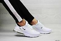 Летние кроссовки женские Nike Air Max 270, белые / жіночі кросівки Найк білі текстильні (Топ реплика ААА+)