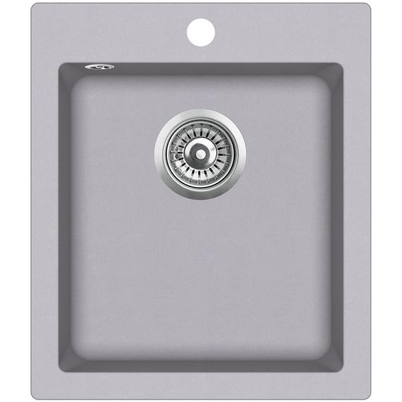 Мойка для кухни гранитная Aquasanita Simplex SQS-100W-202 алюметаллик