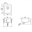 Мойка для кухни гранитная Aquasanita Simplex SQS-100W-202 алюметаллик, фото 3