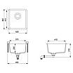 Мойка для кухни гранитная Aquasanita Arca SQA-101W-120 коричневый, фото 3