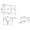 Мойка для кухни гранитная Aquasanita Bella SQB-101AW-710 белый, фото 3