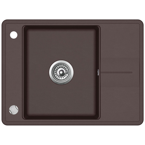 Мийка для кухні гранітна Aquasanita Bella SQB-102AW-120 коричневий