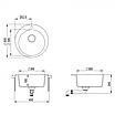 Мойка для кухни гранитная Aquasanita Clarus SR-100W-110 бежевый, фото 2