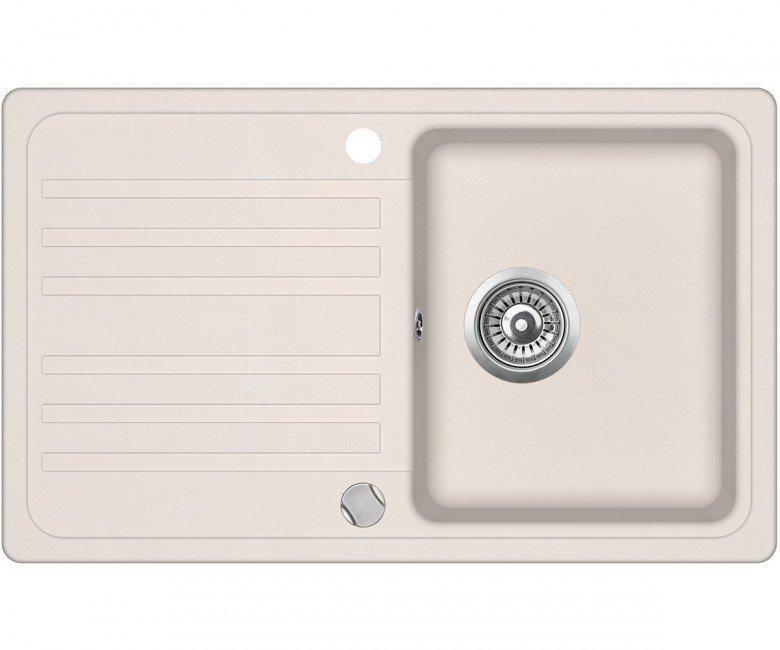 Мийка для кухні гранітна Aquasanita Volta SQ-101AW-111 силіка