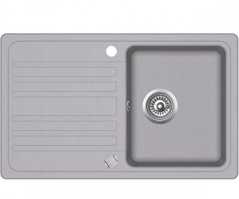 Мойка для кухни гранитная Aquasanita Volta SQ-101AW-202 алюметаллик