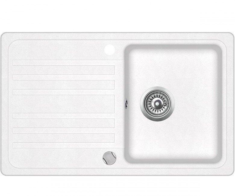 Мойка для кухни гранитная Aquasanita Volta SQ-101AW-710 белый