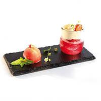 Тарелка / блюдо (сланец) из натурального камня - 25 х 12 см (APS)