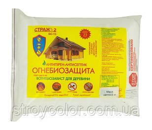 Огнебиозащита древесины концентрат 1:10 СТРАЖ-2 1кг (Антисептик для внутренних работ)