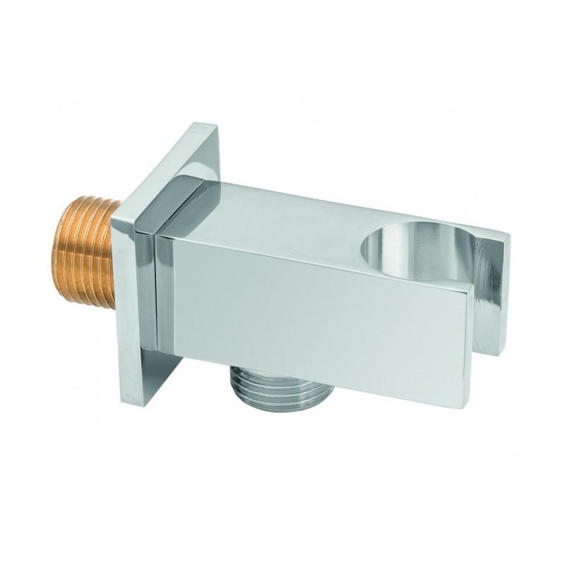 Шлангове з'єднання з держателем Invena SC-P1-033 хром