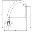 Змішувач для раковини вилив 20 см Invena Roma BZ-21-00S хром, фото 2
