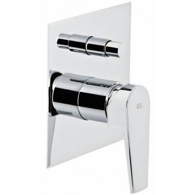 Смеситель скрытого монтажа ванна/душ с переключателем Genebre Klip 4116164566 хром