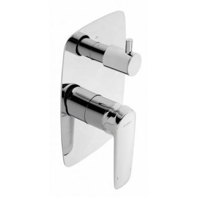 Смеситель скрытого монтажа ванна/душ с переключателем Genebre Kode 62117 31 45 66 хром