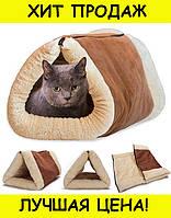 Лежак-кровать для кошки 2 in 1 Kitty Shack- Новинка! Покупай