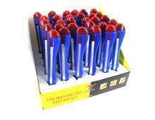 Ручка шариковая, синяя, 0,7мм., в форме канцелярського  ножа, с магнитом (003069)