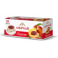 Чай Азерчай чорний Персик у пакетах 25 шт 45 гр